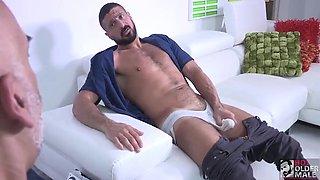 Brian Davilla And Marco Napoli - Bearded Bald Hung Beardad-bearded Hunk: Hj-rim-bb-bj-hj-cum