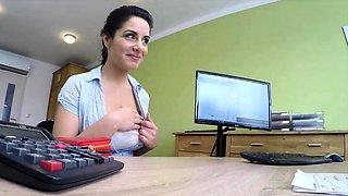 LOAN4K. Crazy sex on the desk in loan office