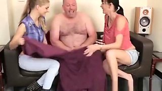 Femdom Babes Shocked By His Cock