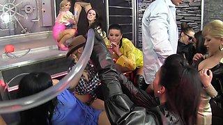 Fabulous pornstars Sara Coul, Alyssia Loop and Nicole Vice in incredible big tits, lingerie sex scene