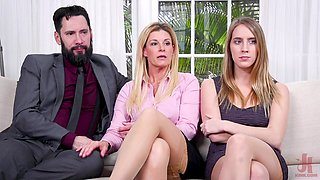 Hardcore FFM threesome with nasty India Summer and Cadence Lux