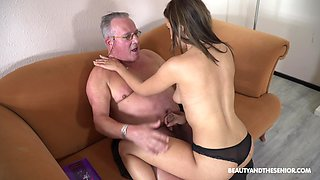 Stepdaughter's introduction to older men and that girl can fuck