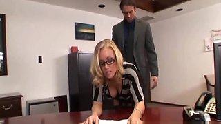 Hot secretary fucked by boss