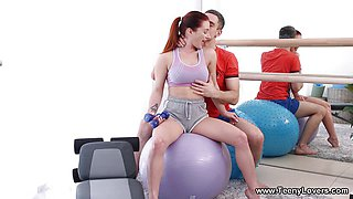 Teeny Lovers - Lelya Mult Teeny ass stretching gym workout