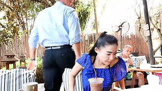 Cheating tiny Thai wife is a real slut