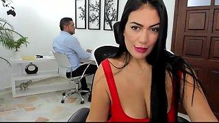 Huge boobs secretary is so naughty while working