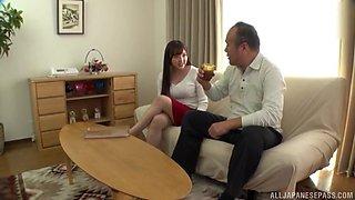 Wild fucking at home with large boobs Japanese girl Tsubakiori Satomi