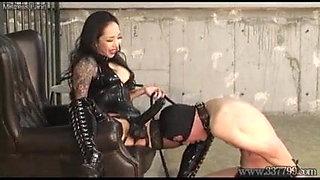 Femdom pegging bondage