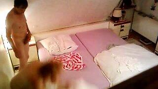 Granny turns into a pornstar thanks to hidden cam in bedroom