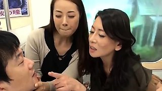 Kinky group Japanese sex with a creampie
