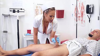 Patients Big Cock Turned Out To Be Too Seductive For Busty Nurse Olivia Austin