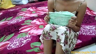 Indian sister catches step brother with panties in hindi