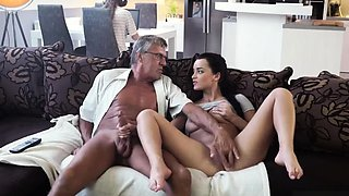 Old man fucks pal' chum's daughter and daddy ' wrestling fir