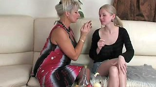 Young girl and mature woman