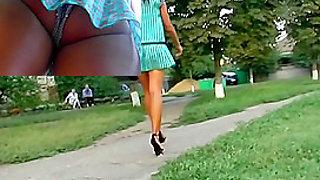 Lengthy and gorgeous upskirt legs