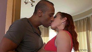 Erotic interracial fucking with gorgeous redhead Bibi Fox