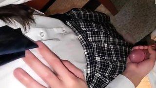 Lovely Asian schoolgirl enjoys her first hardcore experience