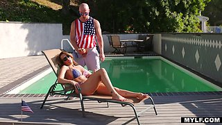 Bald Bloke is Richelle's Stepson for the 4th!