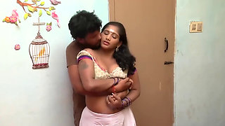 Telugu Aunty Boobs Pressing Romance With Mechanic