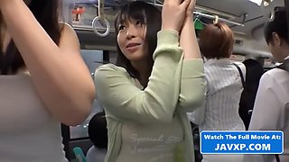 Japanese sluts fucked on the bus