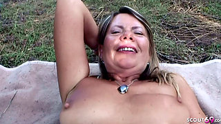 Young Guy Seduce 75yr old Grandma to Outdoor Fuck near Beach