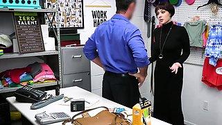 Elegant teacher MILF caught shoplifting