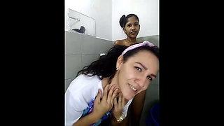 young black girl masturbates during bath