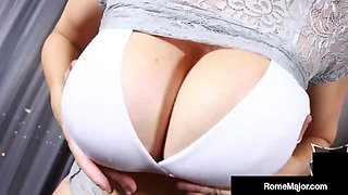 Curvy Cougar Sara Jay Sucks Off Big Cock Bull Rome Major!