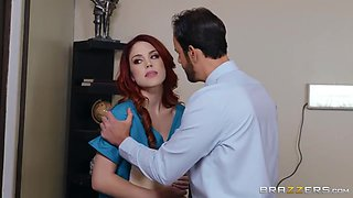 Caught In The Act! - Redhead Nurse Likes Redhead Pussy - Molly Stewart And Jayden Cole