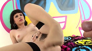 Adorable, young Yhivi is ready for her first on-camera anal