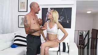 Skinny Italian Young Slut Ass Drilled At Casting