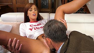 Cheating wife Scarlett Mae loves having sex with her older boss