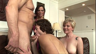 Swinger couples get freaky after a cool house party