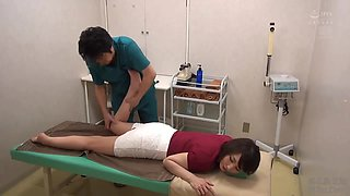 Naughty, Japanese Milf Is About To Get Fingered In A Massage Room, Until She Starts Moaning