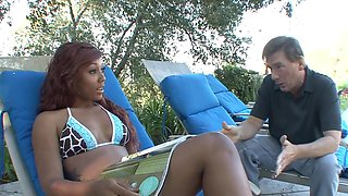 Stepfather Gets Screwed By Ebony Stepdaughter