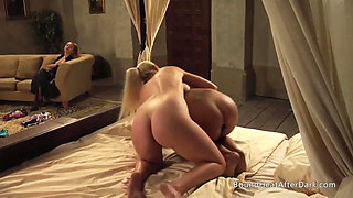Busty Young Lesbian Slaves Playing With Each Other For Their