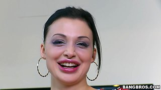 Smoking hot Aletta Ocean loves nothing more than playing with a cock