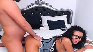 Aggressive Man In Bed Cum Inside Of Her After Fucking