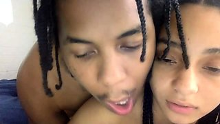 Beautiful ebony teen gets nailed deep doggystyle on webcam