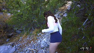A hike with her lover turns sexual and Aubree Valentine knows how to fuck