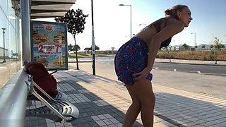 Iviroses Masturbating In A Bus Stop