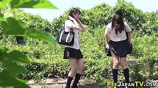 High school asians piss