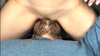 Wife saddled my face and came in my mouth