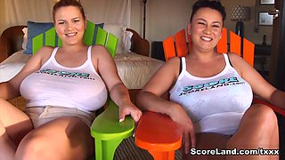 The Star Sisters Are Big-Boobed Swinging Stars - Erin Star and Helen Star - Scoreland