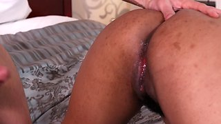 Chubby Latina gets a hardcore pounding by her randy lover