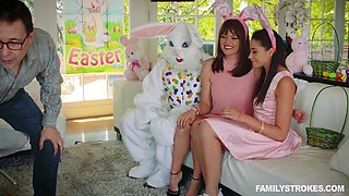 easter bunny abuses wet daughter