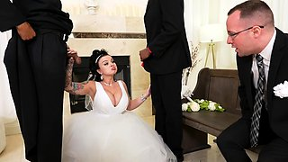 Payton Preslee's Wedding Turns Rough Interracial Threesome