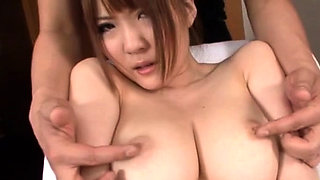 Harcore fucking making a asian babe's big milk cans wiggle