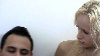 Aggressive sex with slutty czech blonde