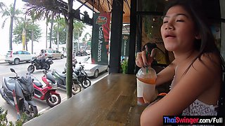 Rough sex with petite Thai amateur teen girlfriend who liked it hard